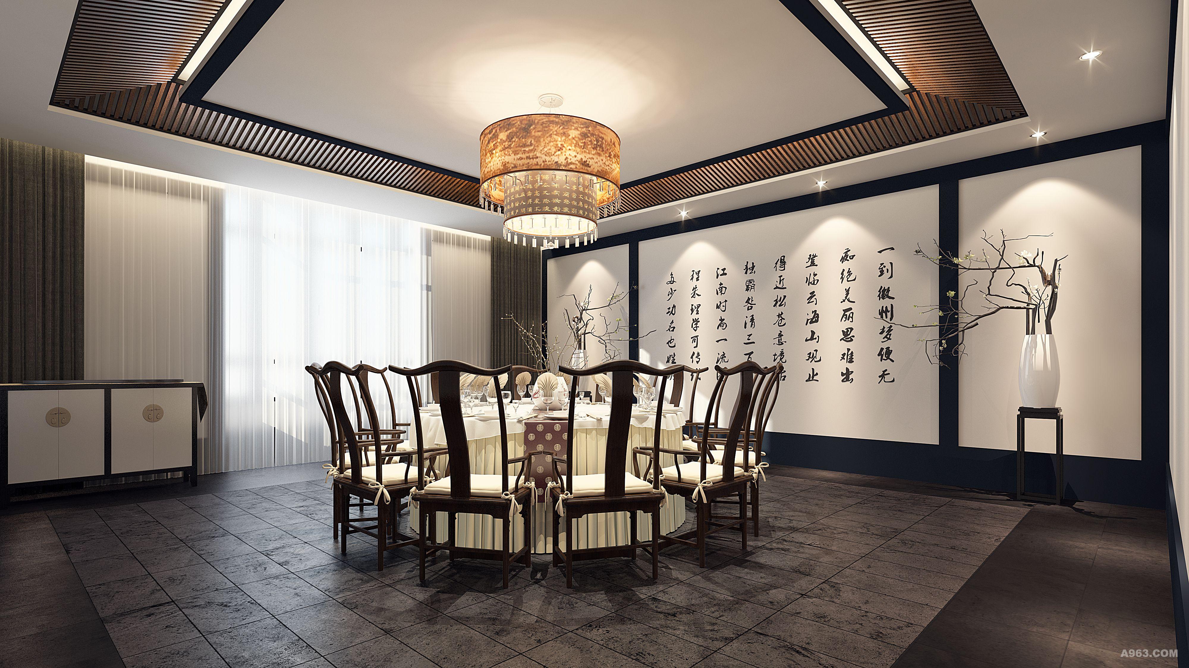 徽派餐厅室内设计